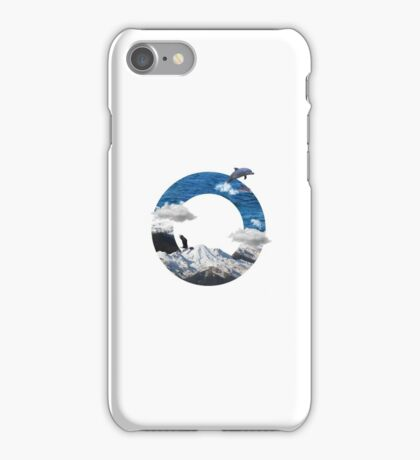 A circle of mountain and sea iPhone Case/Skin