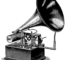 Vintage Phonograph - Later Model by cartoon