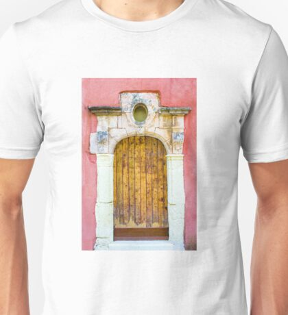 Vintage door in Bormes les Mimosas, France Unisex T-Shirt