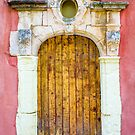 Vintage door in Bormes les Mimosas, France by E ROS
