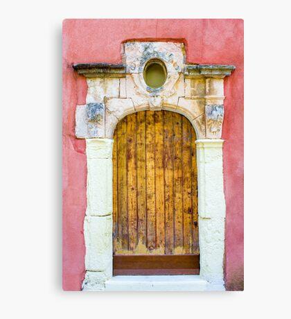 Vintage door in Bormes les Mimosas, France Canvas Print