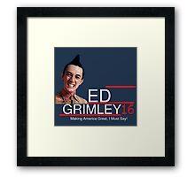 ED Grimley 2016 Framed Print