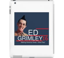 ED Grimley 2016 iPad Case/Skin