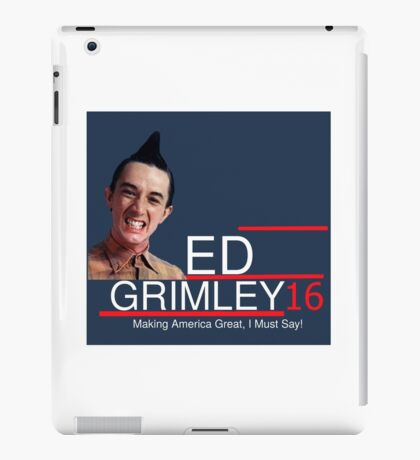 ED Grimley 2016 iPad Case/Skin