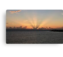 Provo - striped sunrise Canvas Print