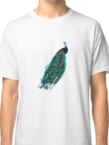Peacock Art Vintage Peacock Illustration Classic T-Shirt
