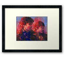 Sherlock - With John Framed Print