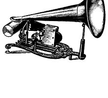 Vintage Phonograph - Early Model by cartoon