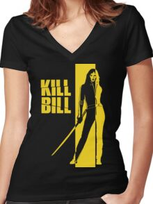 Kill Bill Women's Fitted V-Neck T-Shirt