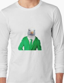Seagull in Suit, bird Long Sleeve T-Shirt