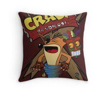 Old Timey Crash Bandicoot Throw Pillow