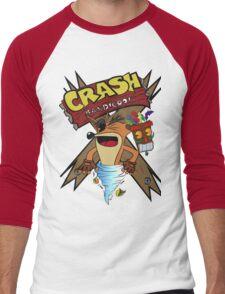 Old Timey Crash Bandicoot Men's Baseball ¾ T-Shirt