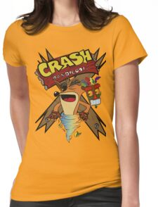 Old Timey Crash Bandicoot Womens Fitted T-Shirt