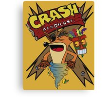 Old Timey Crash Bandicoot Canvas Print