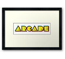 Arcade Retro Framed Print