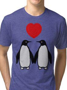 Penguins in love Tri-blend T-Shirt