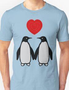 Penguins in love Unisex T-Shirt