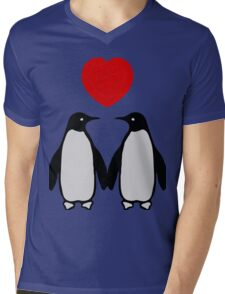 Penguins in love Mens V-Neck T-Shirt