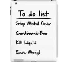 Metal Gear to do List iPad Case/Skin