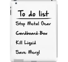 Metal Gear to do List iPad Case/Skin