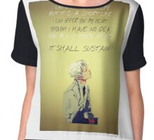 Jem Carstairs Heart Quote TID Chiffon Top