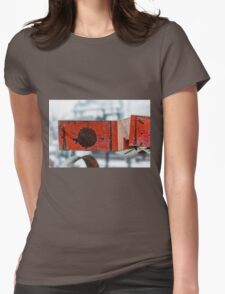 Rusty Red Boxes Womens Fitted T-Shirt