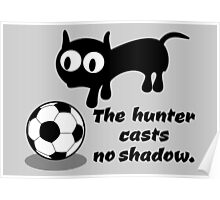 Cat with Football Poster