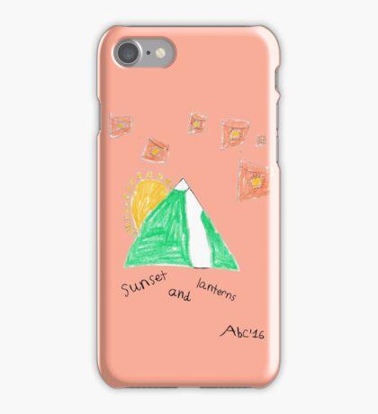 Sunset and Lanterns - ABC '16 iPhone Case/Skin
