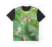 Wild Columbine of Mt Rainier Vertical Graphic T-Shirt