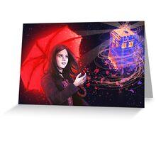 Clara - Tardis in the Wind Greeting Card