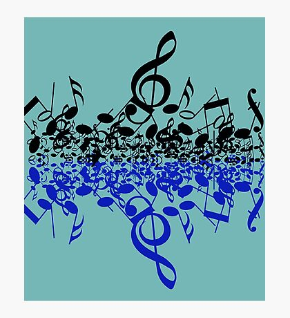 colorful music notes Photographic Print