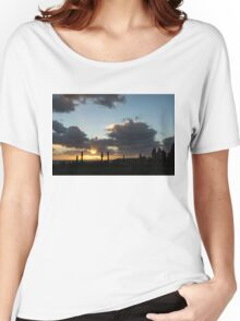 Cypress Sunset - a Very Italian Moment on the Coast of Herculaneum Women's Relaxed Fit T-Shirt