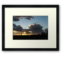 Cypress Sunset - a Very Italian Moment on the Coast of Herculaneum Framed Print