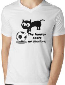 Cat Hunting a Ball Mens V-Neck T-Shirt