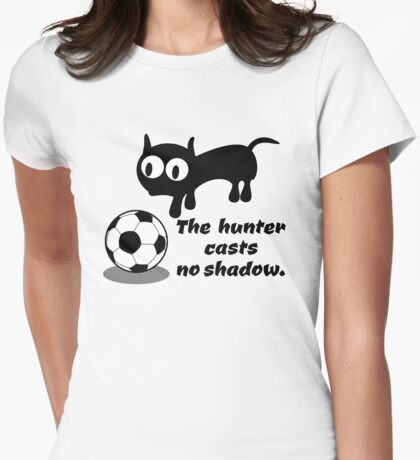 Cat Hunting a Ball Womens Fitted T-Shirt