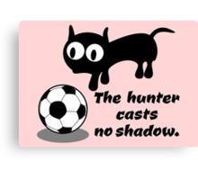 Cat Hunting a Ball Canvas Print