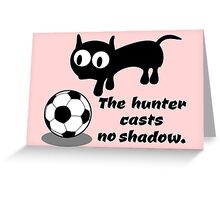 Cat Hunting a Ball Greeting Card