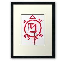 Supernatural inspired Angel Banishing Sigil Symbol Framed Print