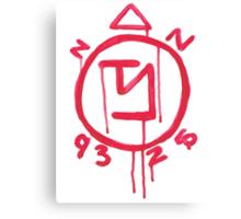Supernatural inspired Angel Banishing Sigil Symbol Canvas Print