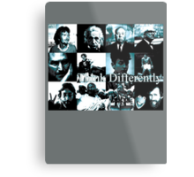Think Differently  Homeage to Steve Jobs Metal Print