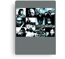 Think Differently  Homeage to Steve Jobs Canvas Print