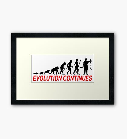 Funny Butcher Evolution Continues  Framed Print