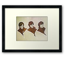 Sherlock - Faces Framed Print