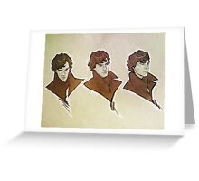 Sherlock - Faces Greeting Card