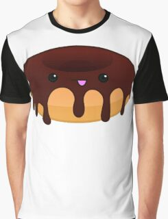 Chocolate Donut Face Graphic T-Shirt