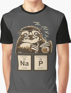 Chemistry sloth discovered nap Graphic T-Shirt