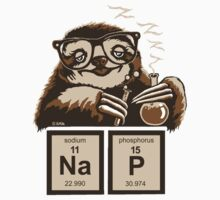 Chemistry sloth discovered nap Kids Tee
