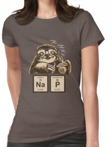 Chemistry sloth discovered nap Womens Fitted T-Shirt