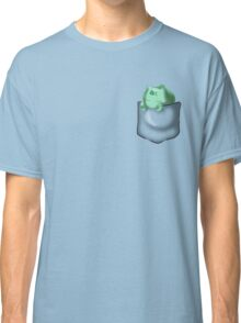 Bulbasaur Sleeping in Pocket Classic T-Shirt