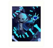 Undertale - Sans - A BAD TIME Art Print